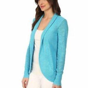Lilly Pulitzer Amalie blue long sleeve cardigan